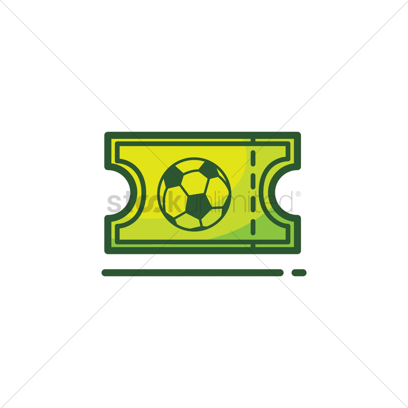 1300x1300 Soccer Game Ticket Vector Image