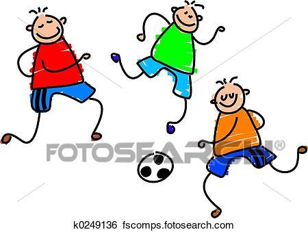 450x339 Stock Illustration Of Soccer Game K0249136