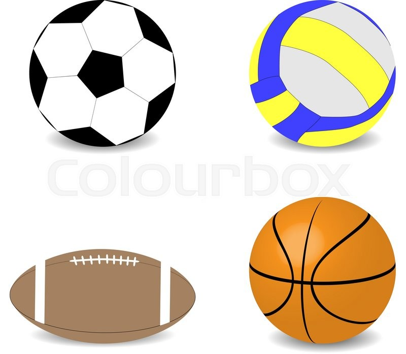 800x697 Balls Rugby Football Basketball Soccer Volleyball. Game Equipment