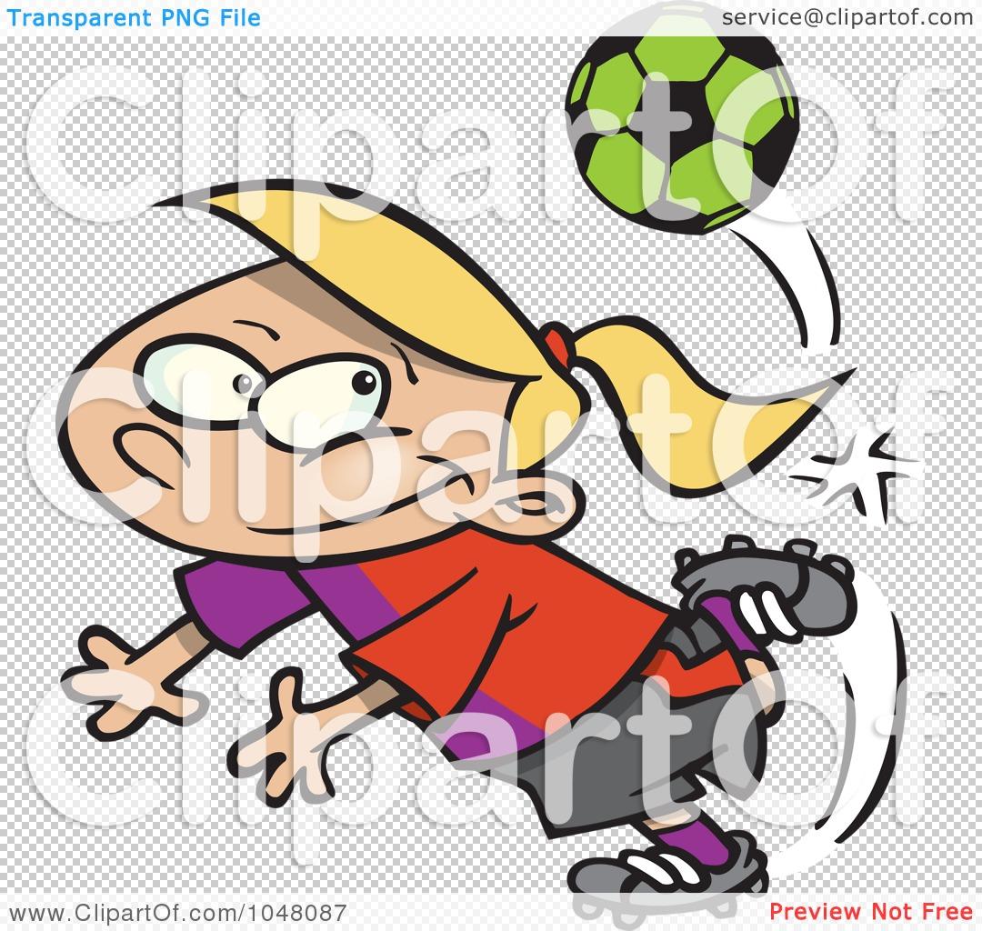 1080x1024 Royalty Free (Rf) Clip Art Illustration Of A Cartoon Soccer Girl