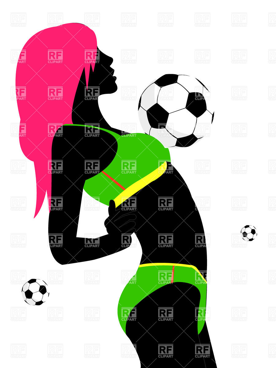 900x1200 Sexy Girl Soccer Fan Royalty Free Vector Clip Art Image