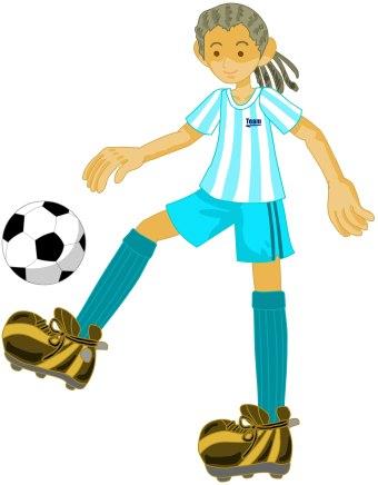 340x436 Soccer Girl Clipart