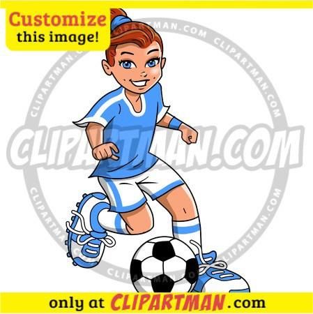 449x450 Soccer Girl Clipart Player Amp Footballer Cartoon