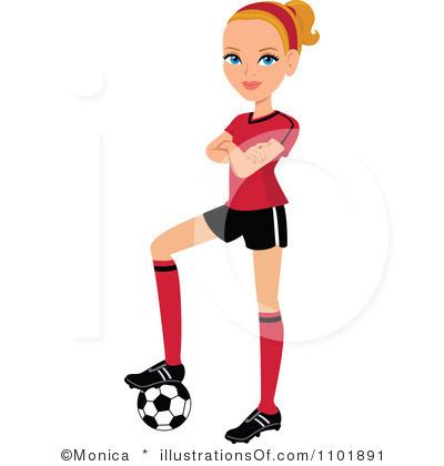 400x420 Soccer Girls Clipart