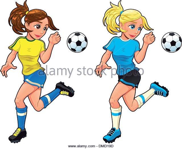 640x525 Cartoon Soccer Girl Stock Photos Amp Cartoon Soccer Girl Stock