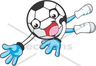 320x223 Creative SOCCER GOAL KEEPER Cartoon