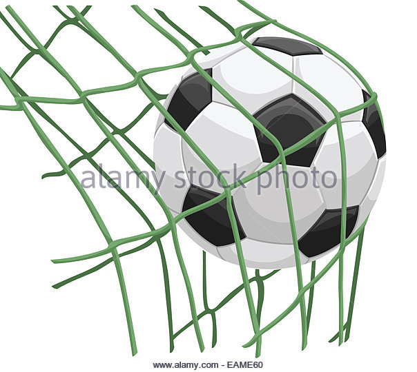 604x540 Football Hitting Net Goal Stock Photos amp Football Hitting Net Goal