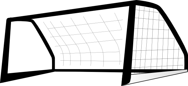 600x275 Goal Post Enlarged ltblackgt Clip Art