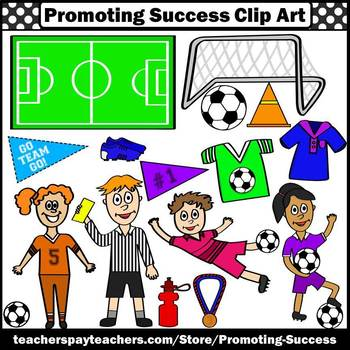 350x350 Theme Clipart, Sports Clip Art, Soccer Player Goal Ball Referee SPS