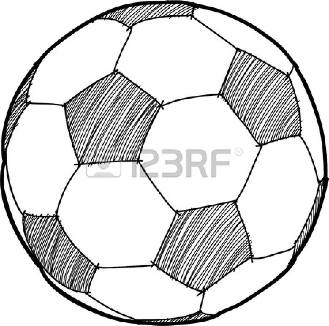 1350x1338 Drawn Ball Football Net