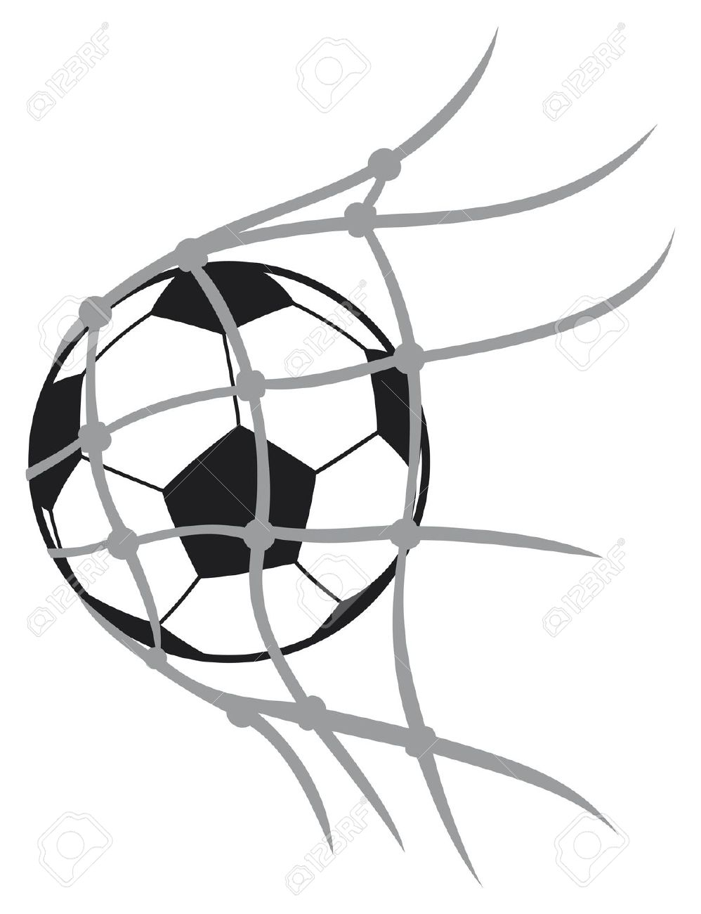 998x1300 Drawn Ball Soccer Goal Post