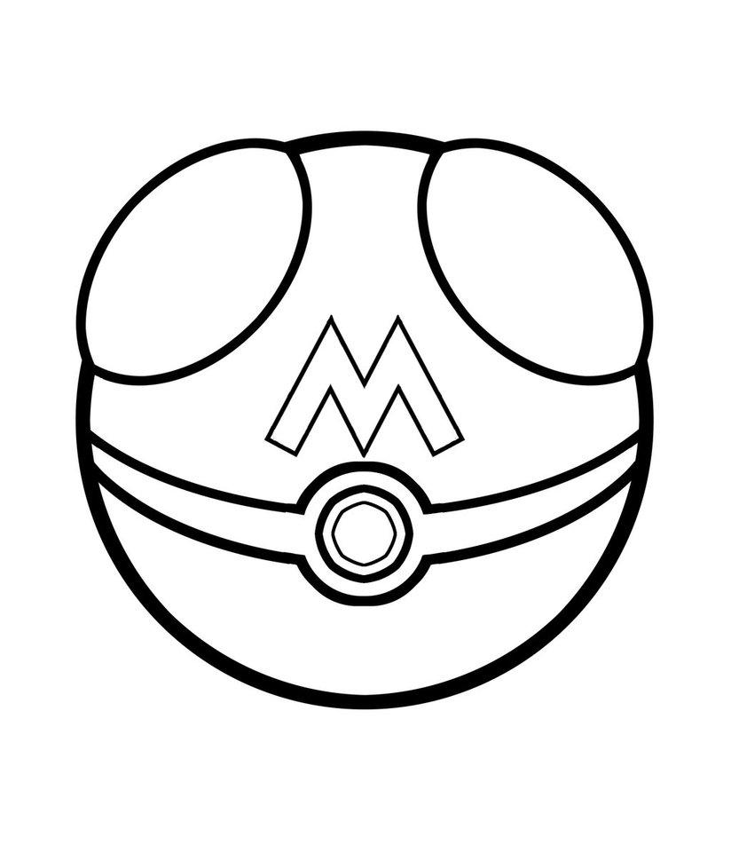 824x970 drawn pokeball soccer goal post