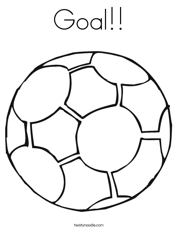 685x886 Goal Coloring Page