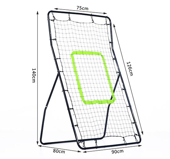 550x515 Homcom Rebounder Net Target Ball Kickback Soccer Goal Football