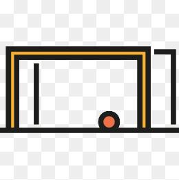 260x261 Hand Drawn Cartoon Soccer Goal Net, Goals, Net, Football Png Image