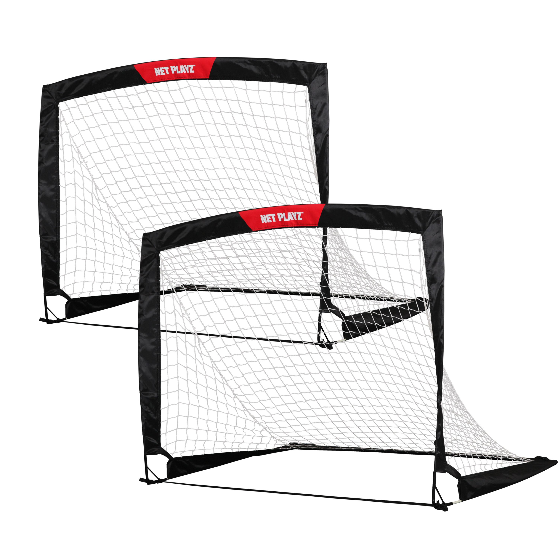 3000x3000 Net Playz 4'X3' Soccer Goal Easy Fold Up Training Goal, Pair