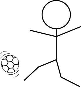 278x300 Soccer Clipart Stick Figure