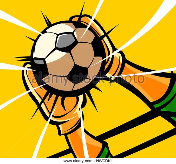580x540 Illustration Soccer Player Holding Ball Stock Photos