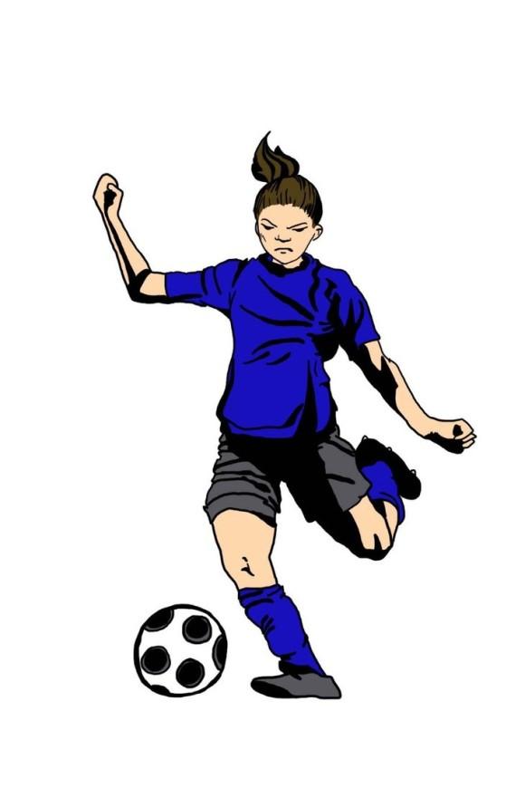 580x870 Indoor Soccer Cliparts