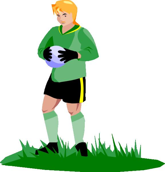 576x597 Soccer Goalie Clip Art