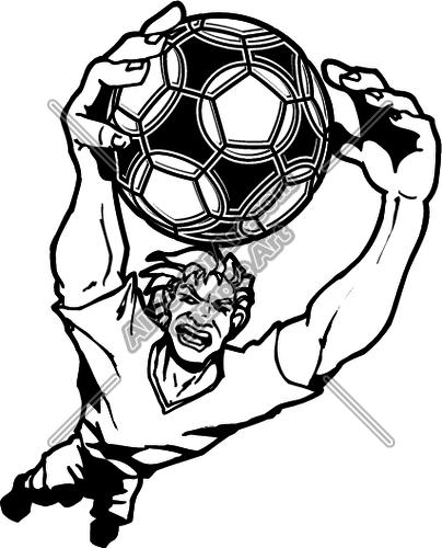 404x500 Soccer Goalie Clipart And Vectorart Sports