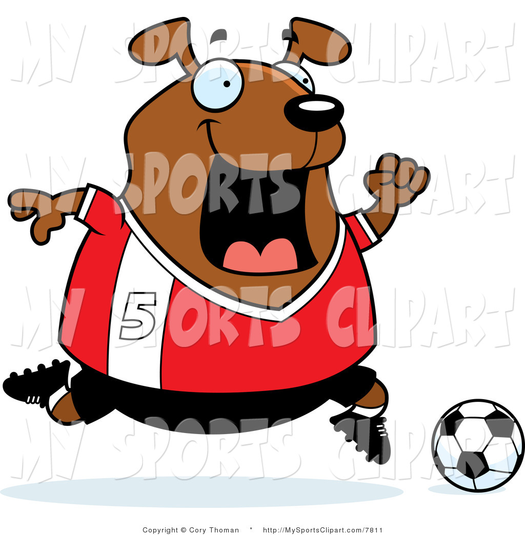 1024x1044 Sports Clip Art Of A Dog Playing Soccer In Red Number 5 By Cory