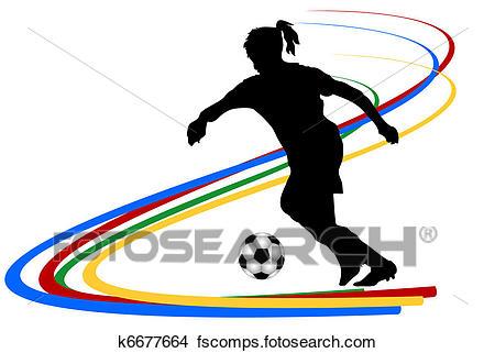 450x321 Drawings Of Female Soccer Player K6677664