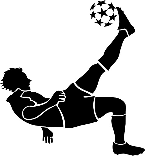 477x512 Free Soccer Player Clipart Image