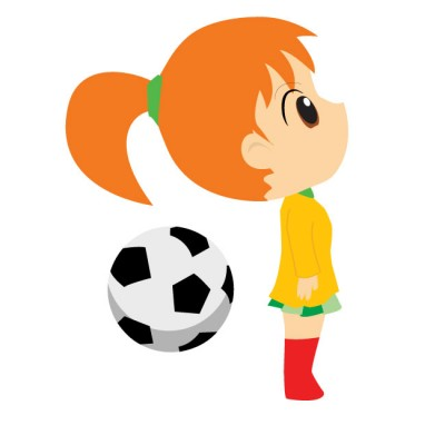 400x400 Girls Soccer Cliparts