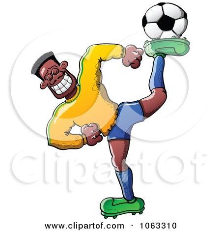 450x470 Lizard clipart soccer player