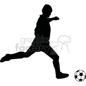 300x300 Royalty Free 2535 Royalty Free Silhouette Soccer Player With Ball
