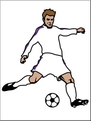 304x404 Clip Art Soccer Player 02 Color I abcteach