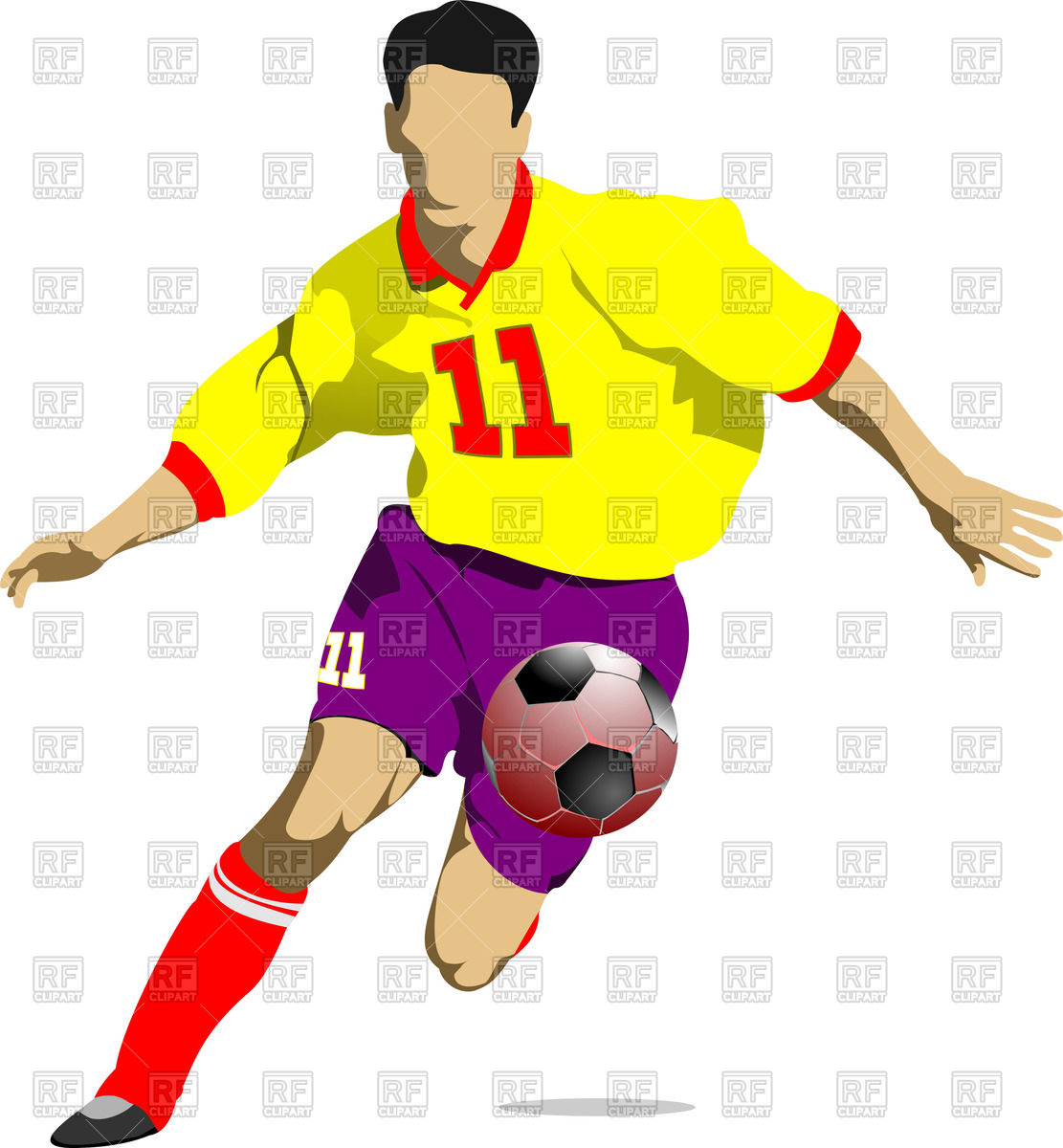 1111x1200 Soccer Player In Motion Royalty Free Vector Clip Art Image