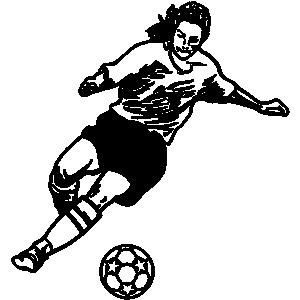 300x300 Girls Soccer Clipart