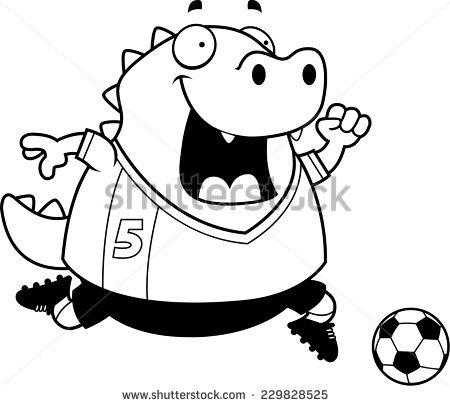 450x406 Lizard clipart soccer player