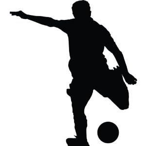 300x300 Soccer Player Silhouette Clipart Panda