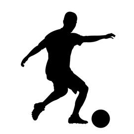 270x270 Soccer Player Silhouette 01 Stencil Free Stencil Gallery