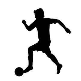 270x270 Soccer Player Silhouette 02 Stencil Free Stencil Gallery