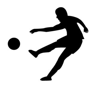 320x295 Soccer Player Silhouette 2 Decal Sticker