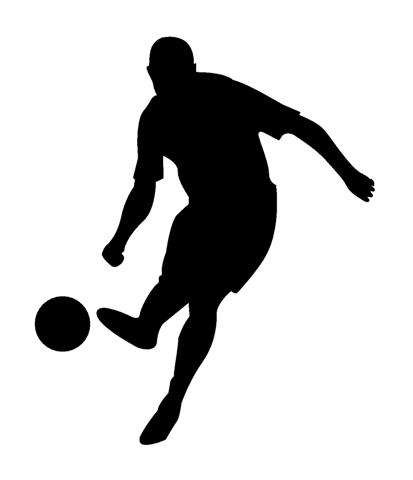 413x480 Soccer Player Silhouette 3 Decal Sticker