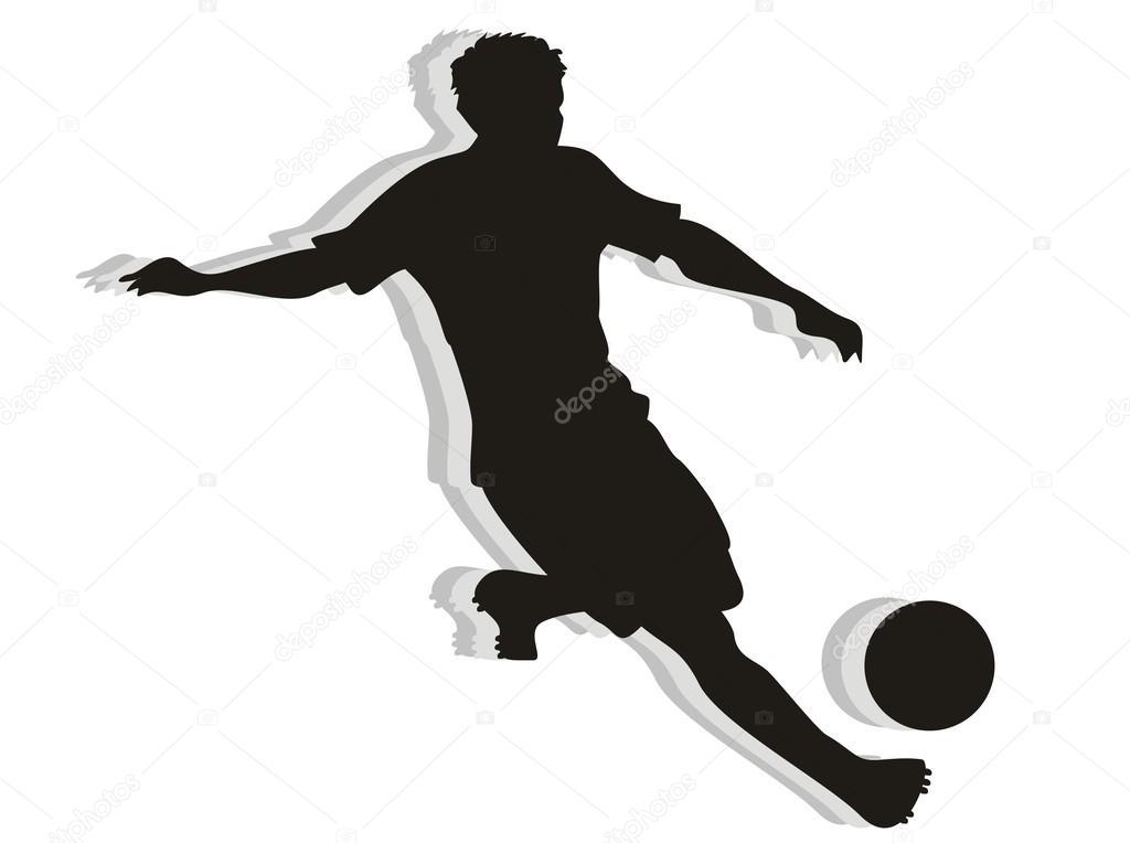1024x764 Soccer Player silhouette — Stock Vector © PhotoEstelar