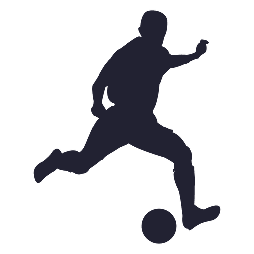 512x512 Soccer player silhouette