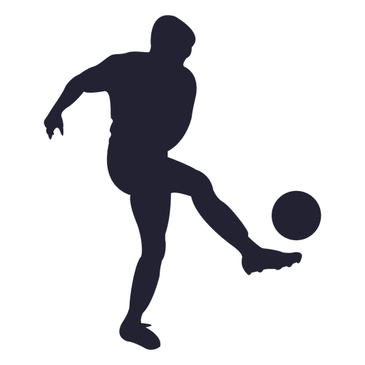 512x512 Soccer player silhouette 2