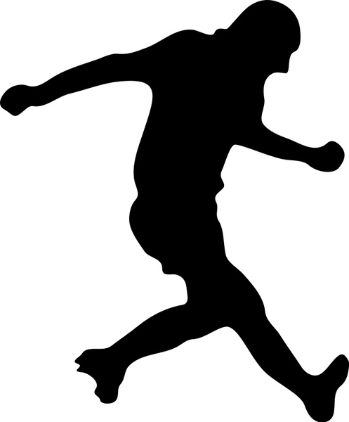 497x600 Soccer player silhouette Free vector in Open office drawing svg