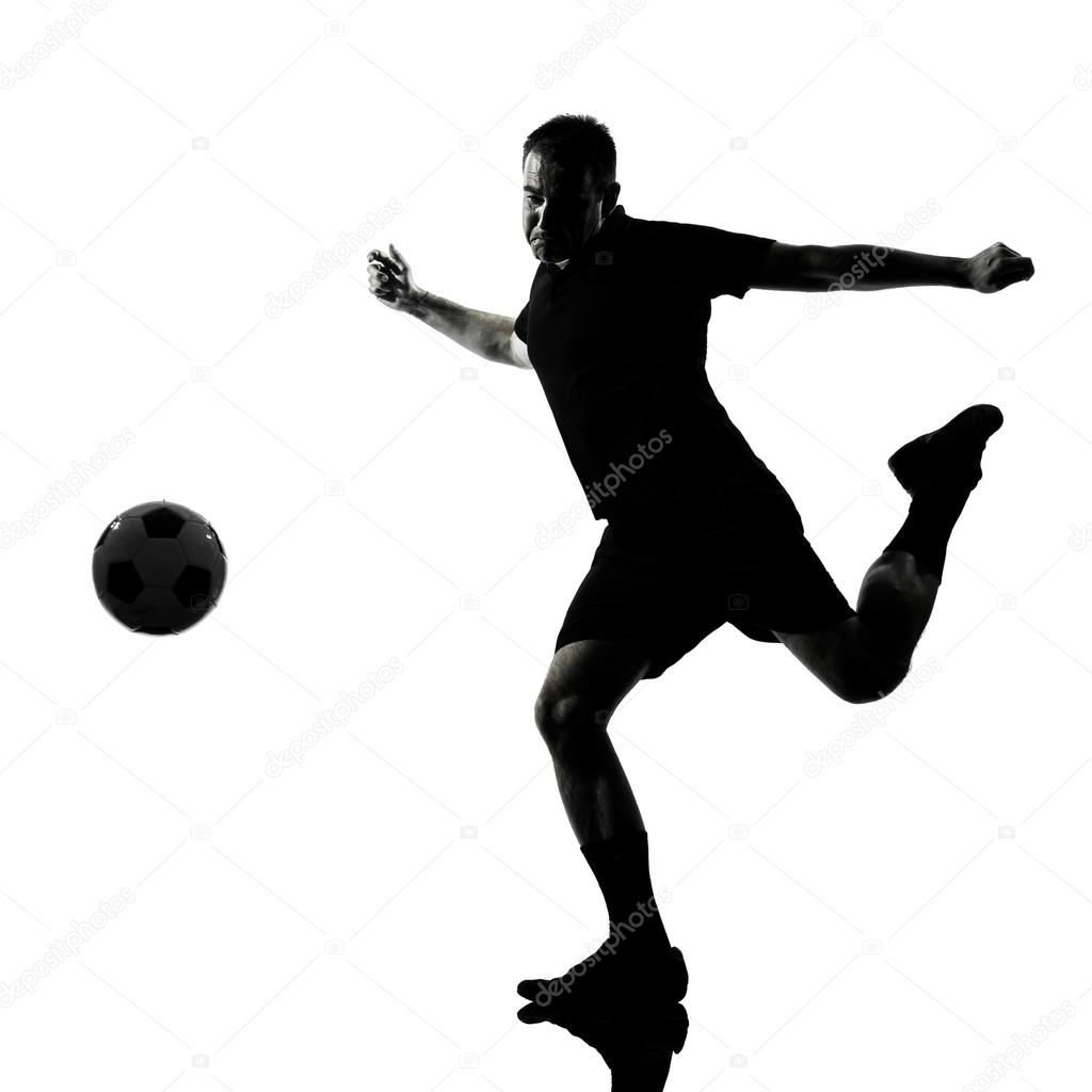 1024x1024 man soccer player silhouette — Stock Photo © STYLEPICS