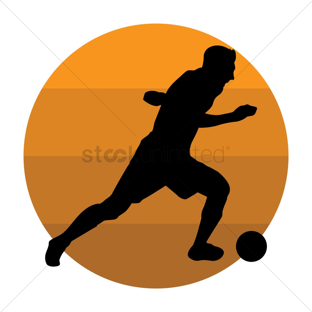 1300x1300 Silhouette Of A Soccer Player Vector Image