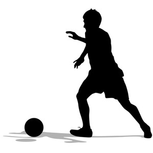 300x300 Sketch Of Soccer Players Preparing For Free Kick. Vector