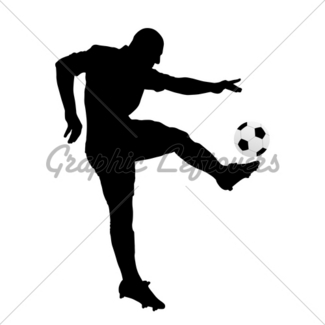 325x325 Soccer Player Kicking The Ball Gl Stock Images