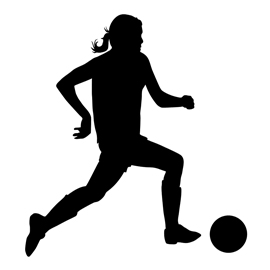 270x270 Soccer Player Silhouette 03 Stencil Free Stencil Gallery