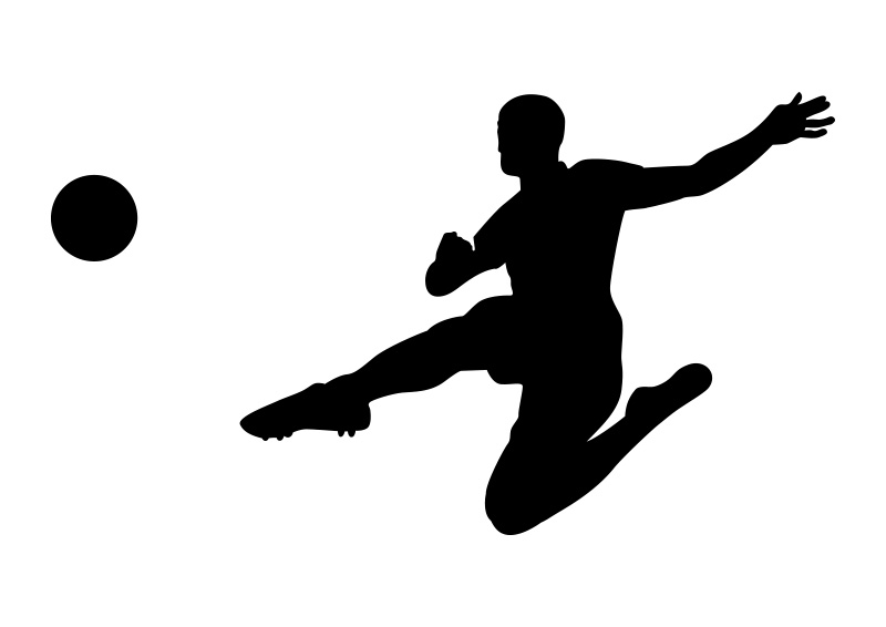 800x566 Soccer Player Silhouette